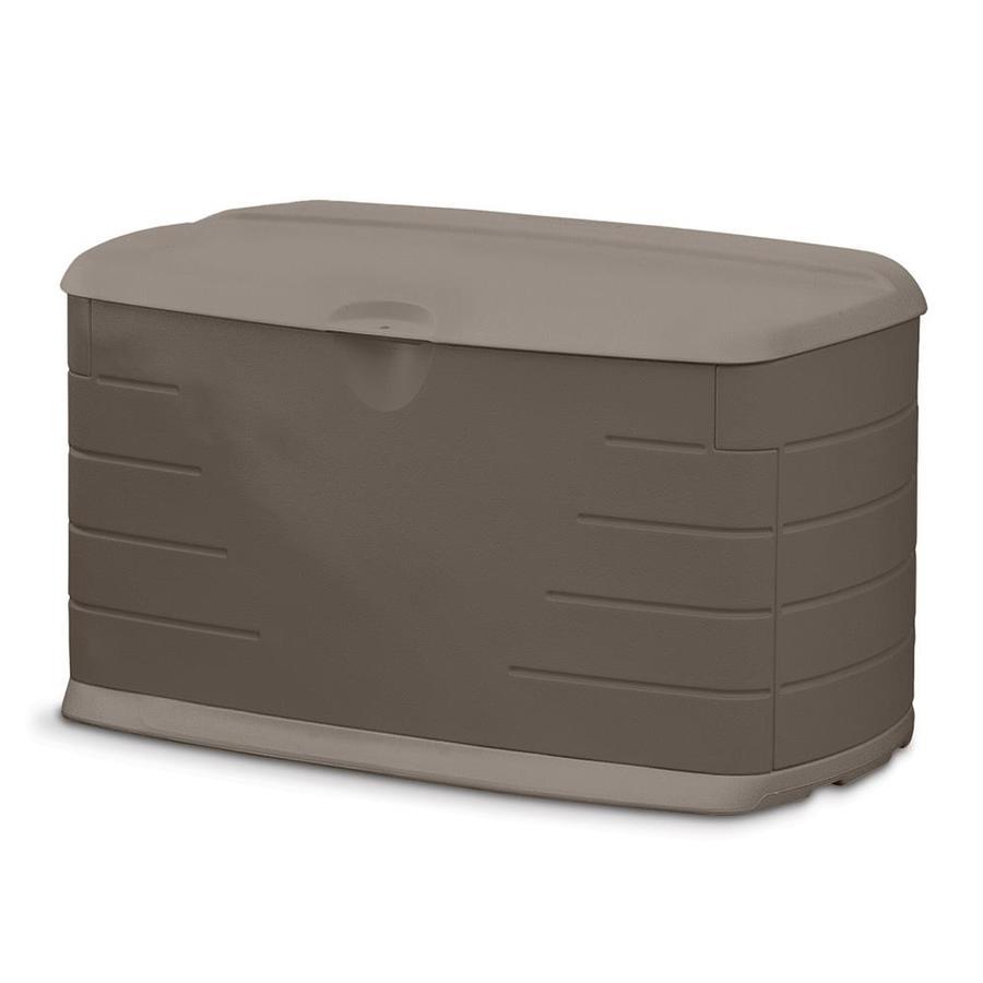 Rubbermaid 24-in L x 42-in W 73-Gallon Olive/Sandstone Resin Deck Box
