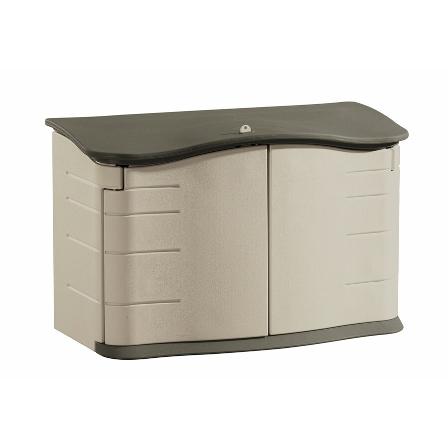 Rubbermaid Olive/Sandstone Resin Outdoor Storage Shed (Common: 55-in x 28-in; Interior Dimensions: 47-in x 21-in)