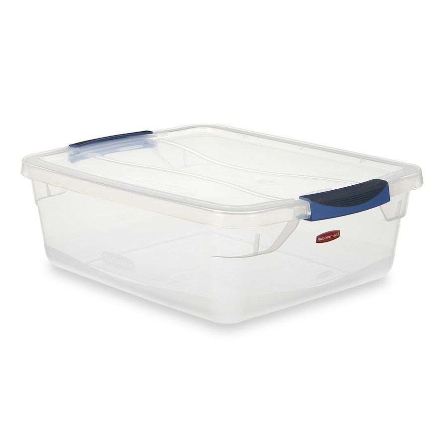 Rubbermaid Clever Store 15-Quart Clear Tote with Latching Lid