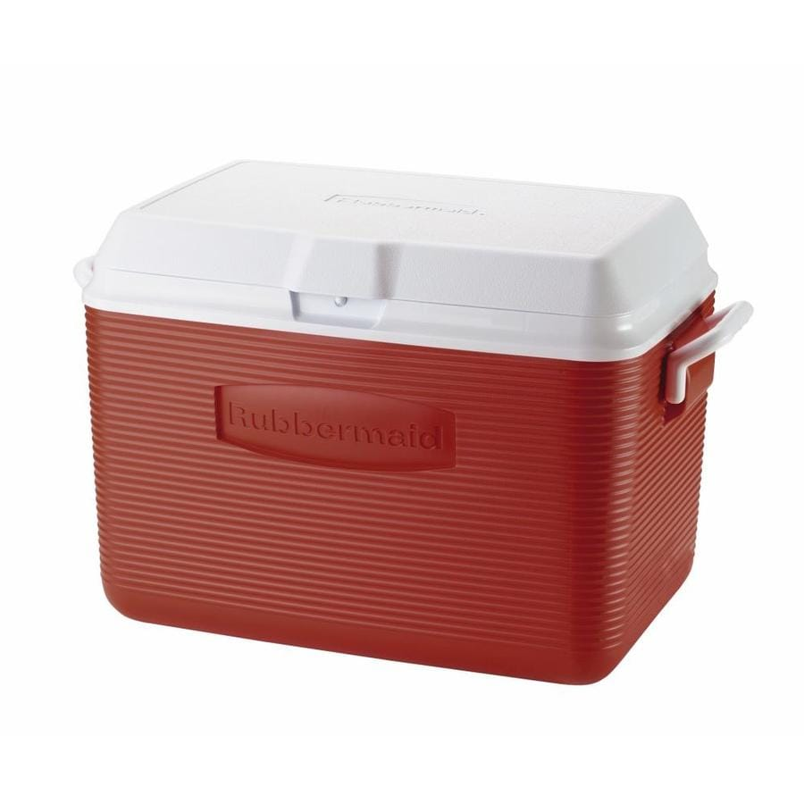 Rubbermaid 48-Quart Chest Cooler with Hinged Lid