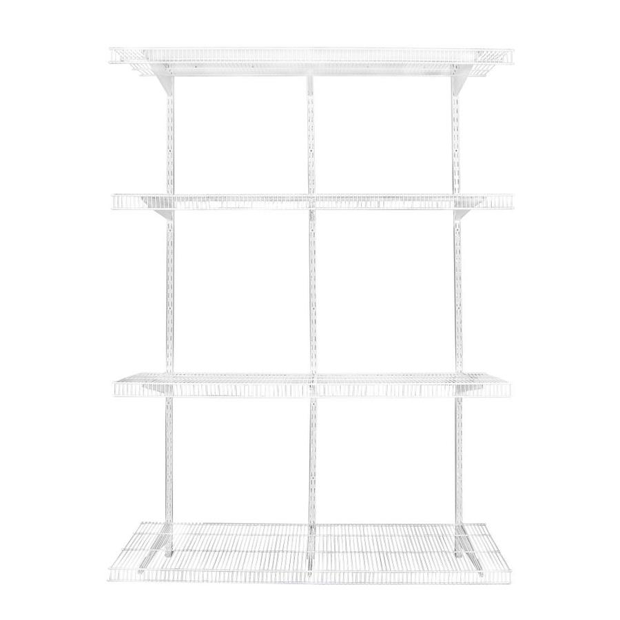 Rubbermaid FastTrack Pantry 4-ft to 4-ft White Adjustable Mount Wire Shelving Kits