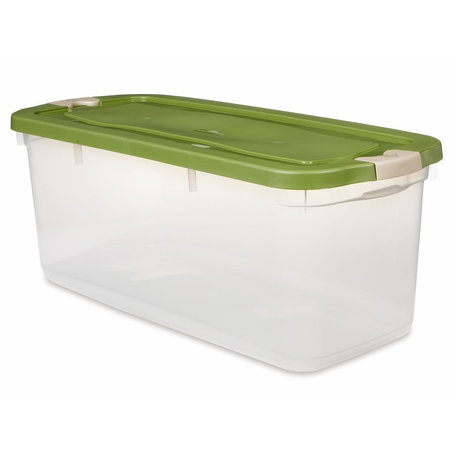Rubbermaid Roughneck 95-Quart Clear General Tote with Locking Latch Lid