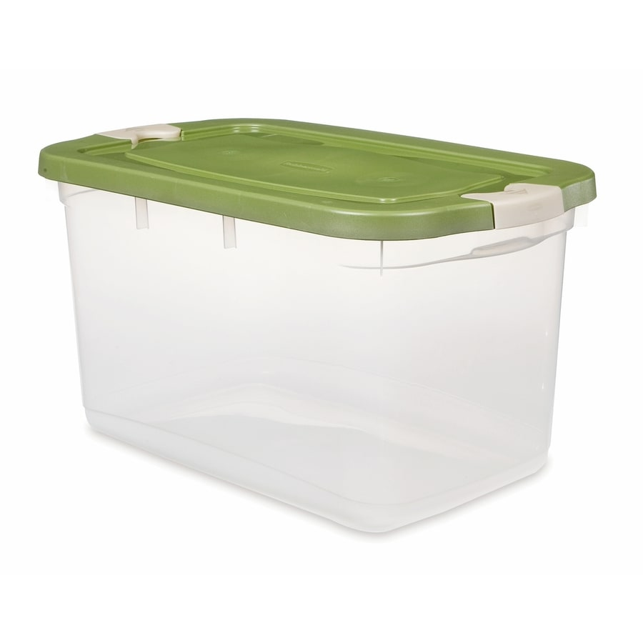 Rubbermaid Roughneck 66-Quart Clear General Tote with Locking Latch Lid