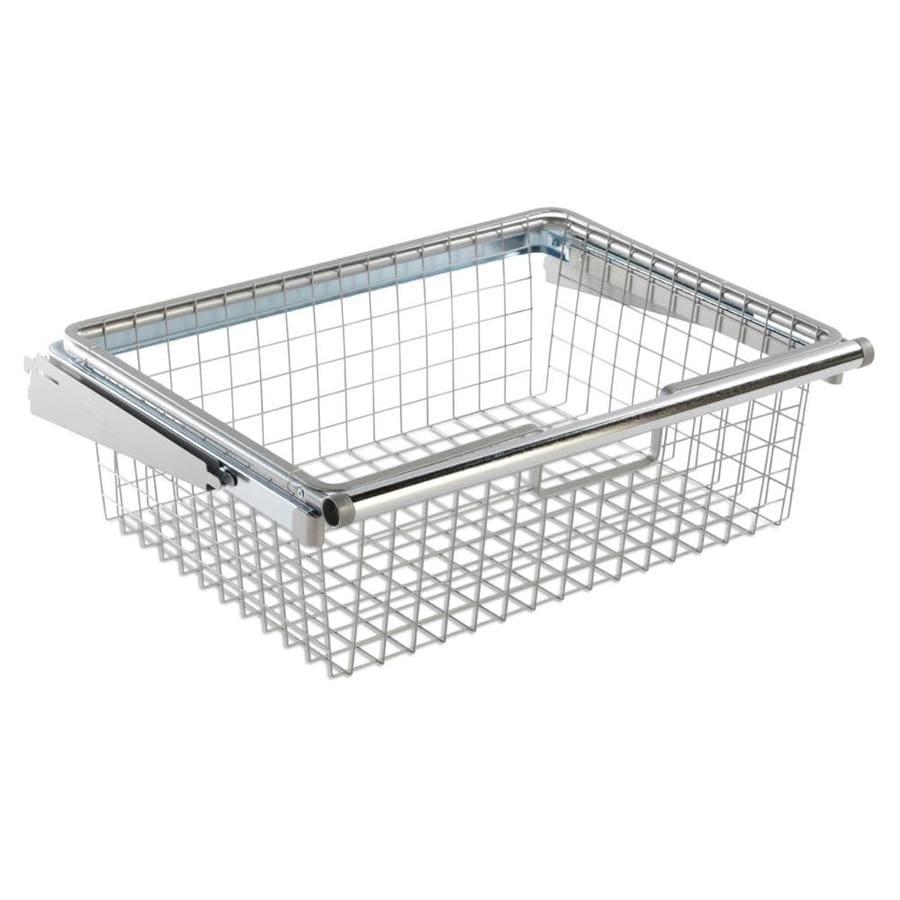 Rubbermaid HomeFree Series Satin Nickel Wire Sliding Basket