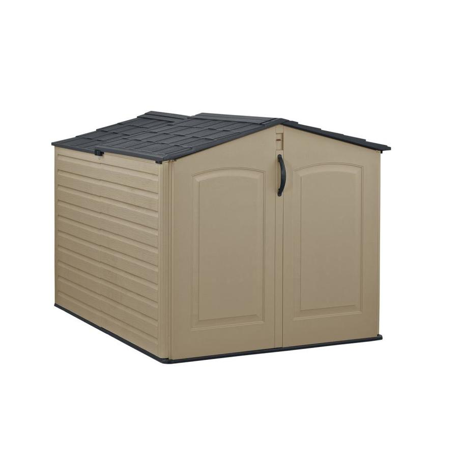 Rubbermaid Roughneck Slide Lid Gable Storage Shed (Common: 5-ft x 6-ft; Actual Interior Dimensions: 4.33-ft x 6-ft)