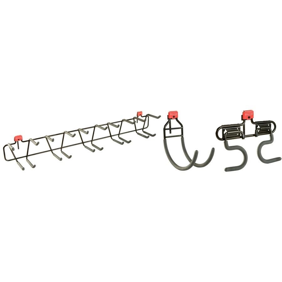 Rubbermaid Black Steel Storage Shed Tool Hanger Rack
