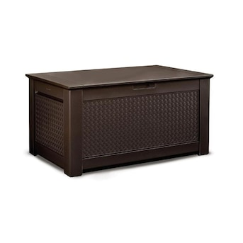 Rubbermaid 46 In L X 28 5 In 93 Gallon Dark Basketweave Deck Box In The Deck Boxes Department At Lowes Com