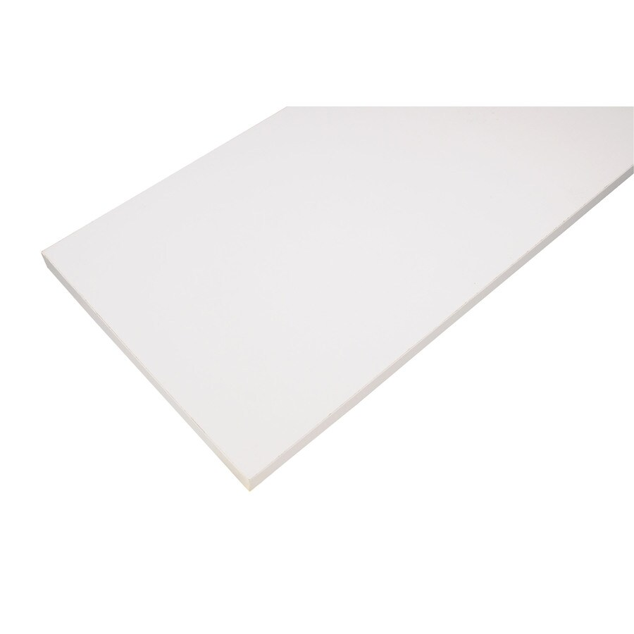 Rubbermaid Laminate 9.8-in W x 47.8-in L x 0.625-in D White Shelf Board
