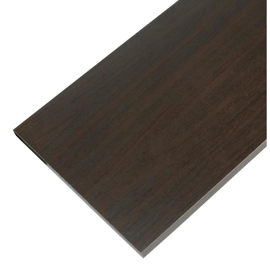 Rubbermaid Laminate 11.8-in W x 71.8-in L x 0.625-in D Espresso Shelf Board