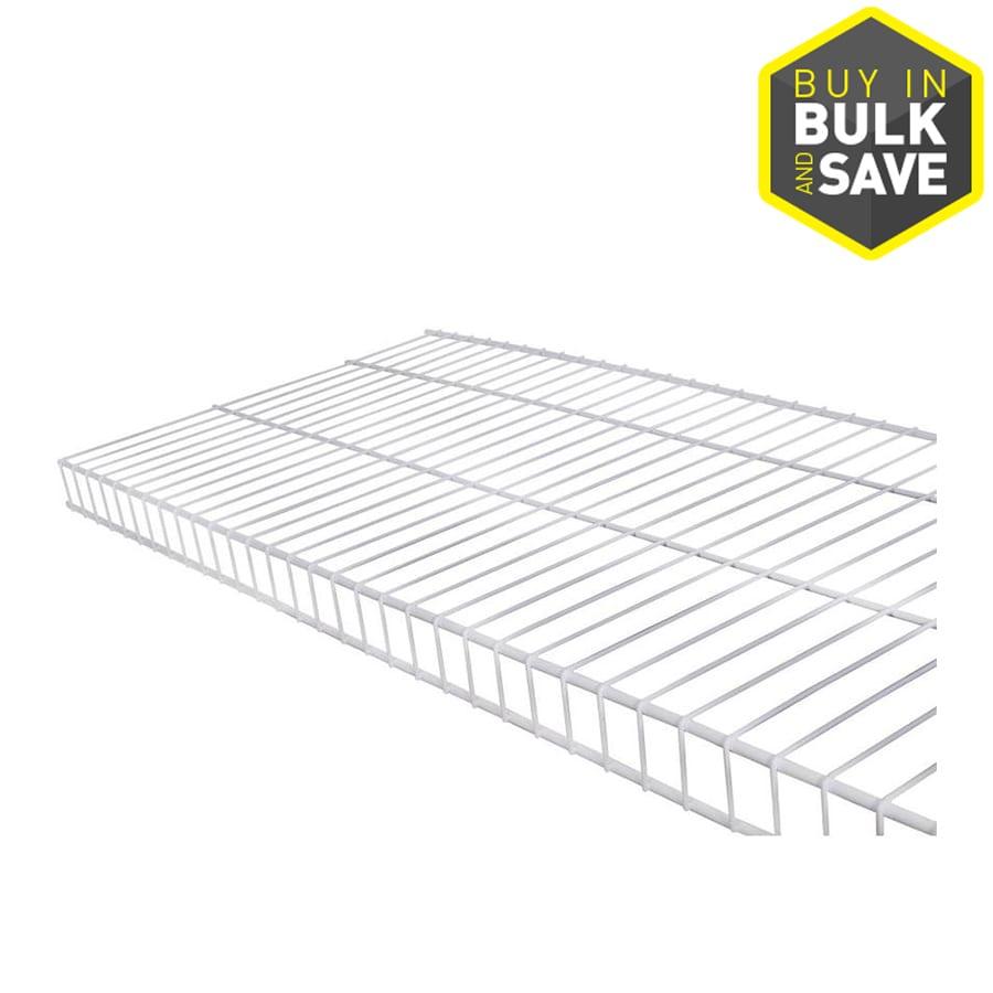 Rubbermaid Linen 8-ft L x 16-in D White Wire Shelf