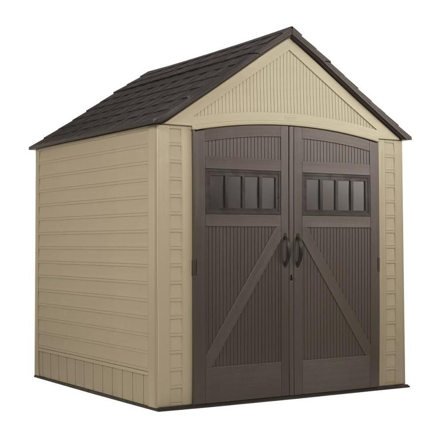 Shop Rubbermaid Roughneck Gable Storage Shed (Common: 7-ft ...