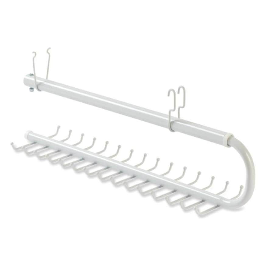 Rubbermaid HomeFree White Wire Sliding Tie and Belt Rack