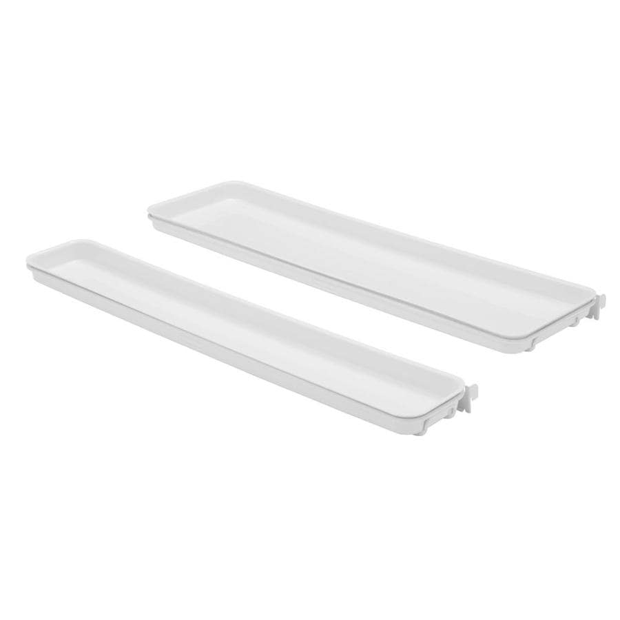 Shop rubbermaid fasttrack white plastic tiered quick shelf for Rubbermaid fasttrack