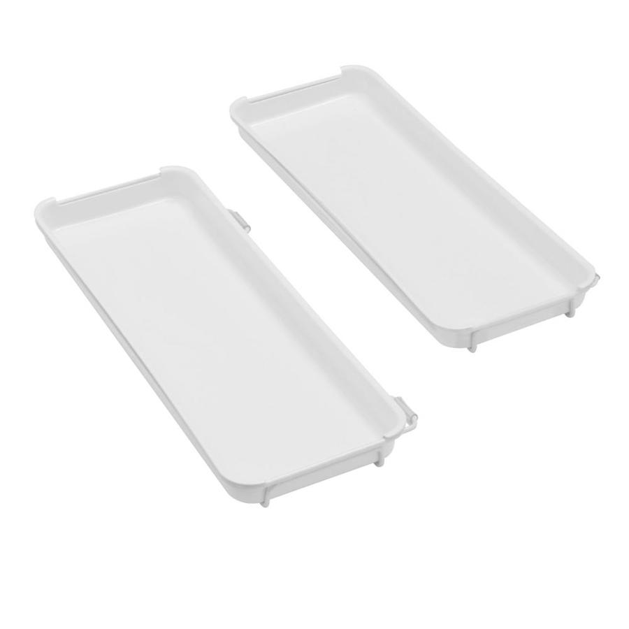 Rubbermaid FastTrack White 2-Piece Plastic Tray