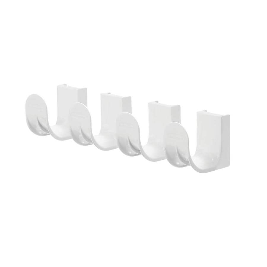Rubbermaid FastTrack White Steel Add-On Hooks
