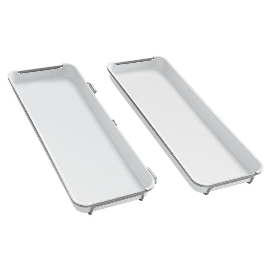 Shop Rubbermaid Fasttrack Satin Nickel 2 Piece Plastic Tray At