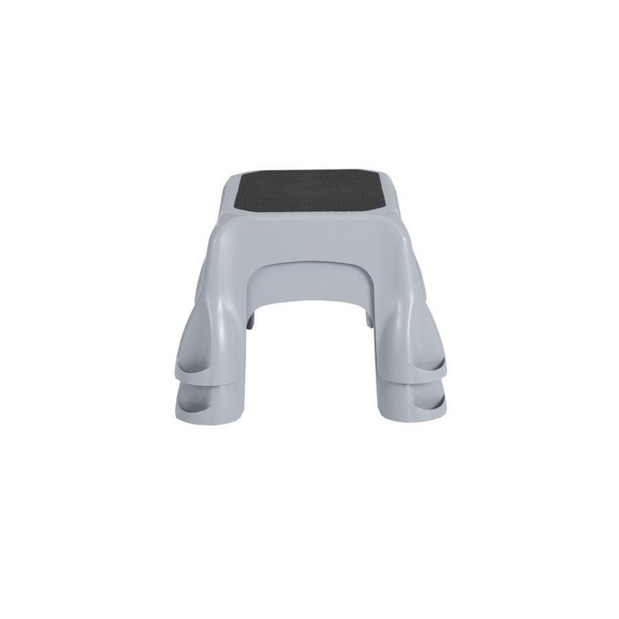 Rubbermaid 1-Step 300 lbs Capacity White Plastic Step Stool
