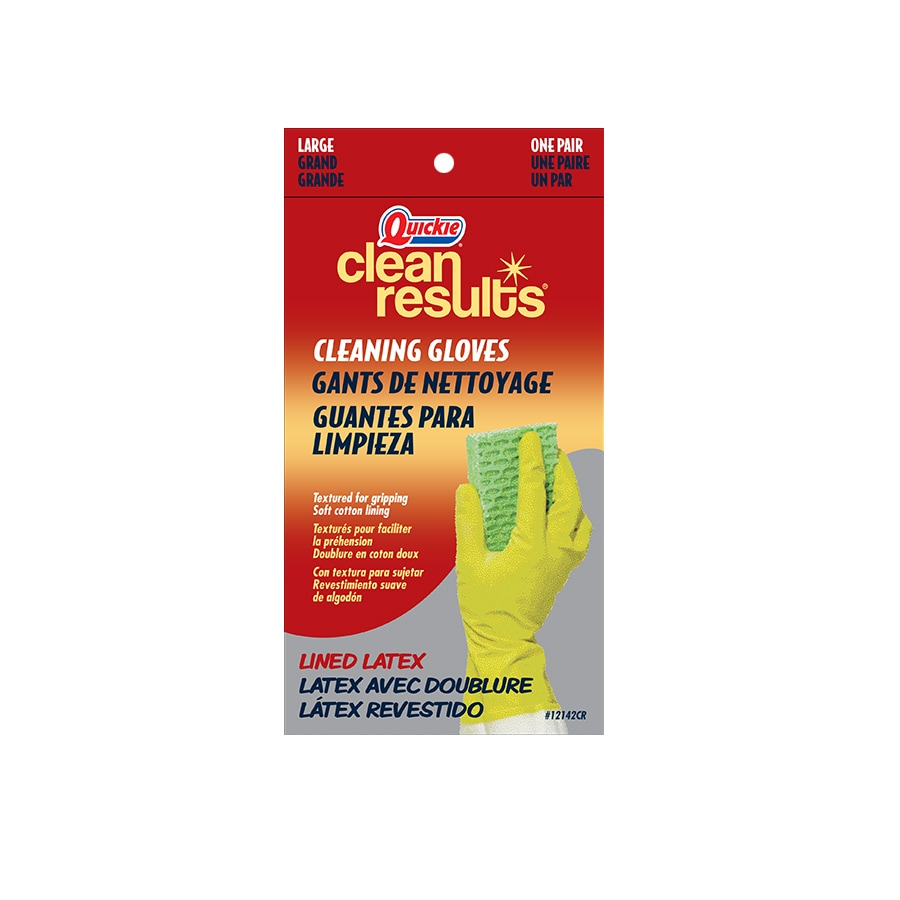 Quickie - Clean Results Large Latex Cleaning Gloves