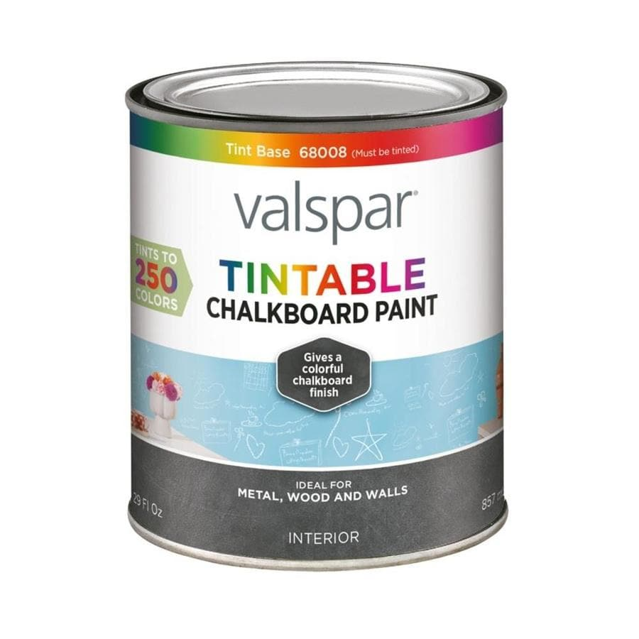 Valspar Tint Base Flat Chalkboard Latex Enamel Interior Paint (Actual Net Contents: 29-fl oz)