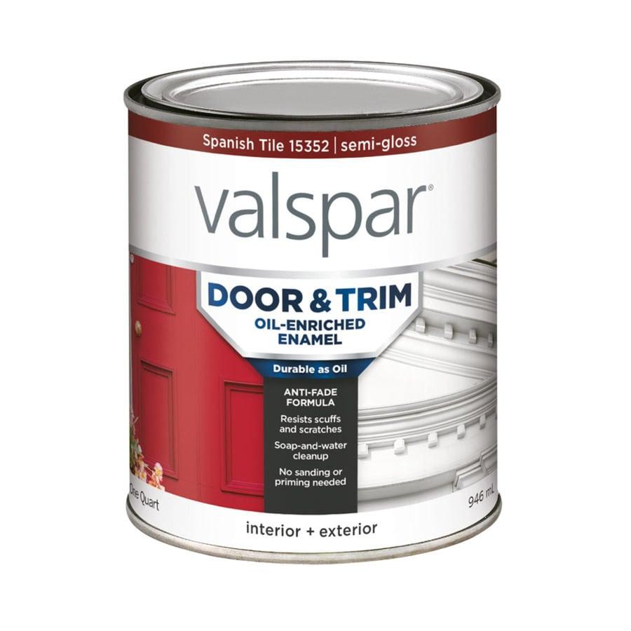 Valspar Door and Trim Spanish Tile Semi-Gloss Enamel Interior/Exterior Paint (Actual Net Contents: 32-fl oz)