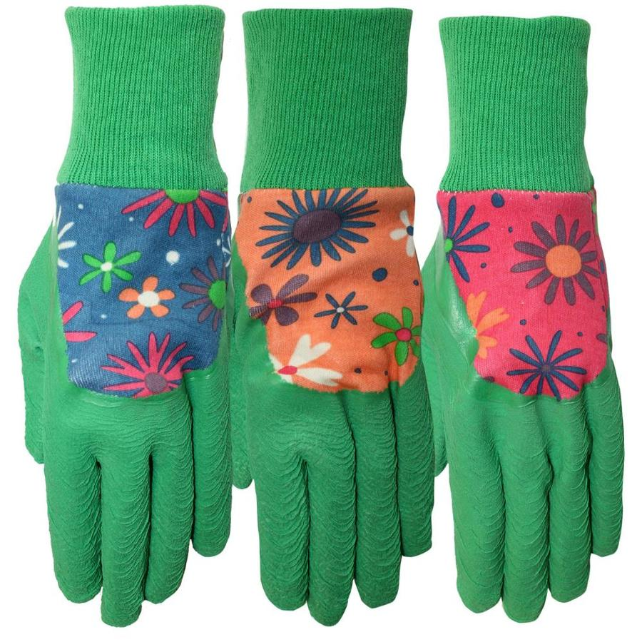 Style Selections Women's Medium Blue Cotton Garden Gloves