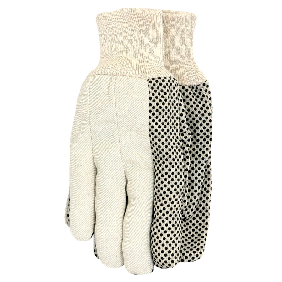 Blue Hawk White Cotton Canvas with Dots Garden Gloves
