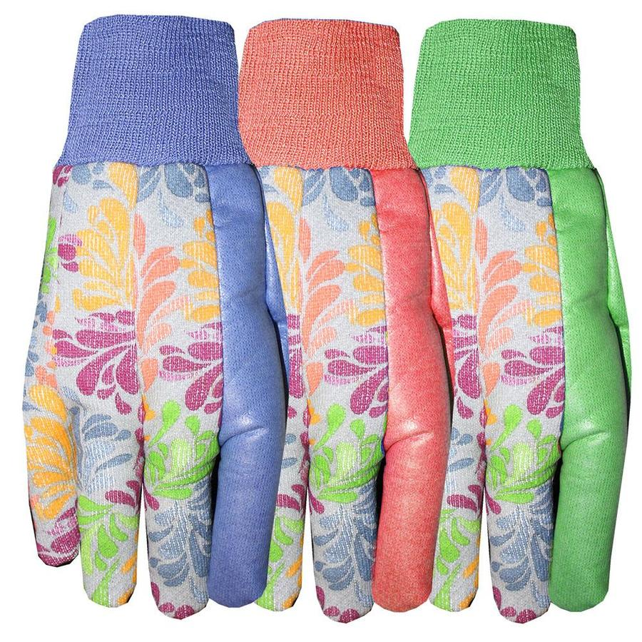 Style Selections Women's Large Blue Cotton Garden Gloves