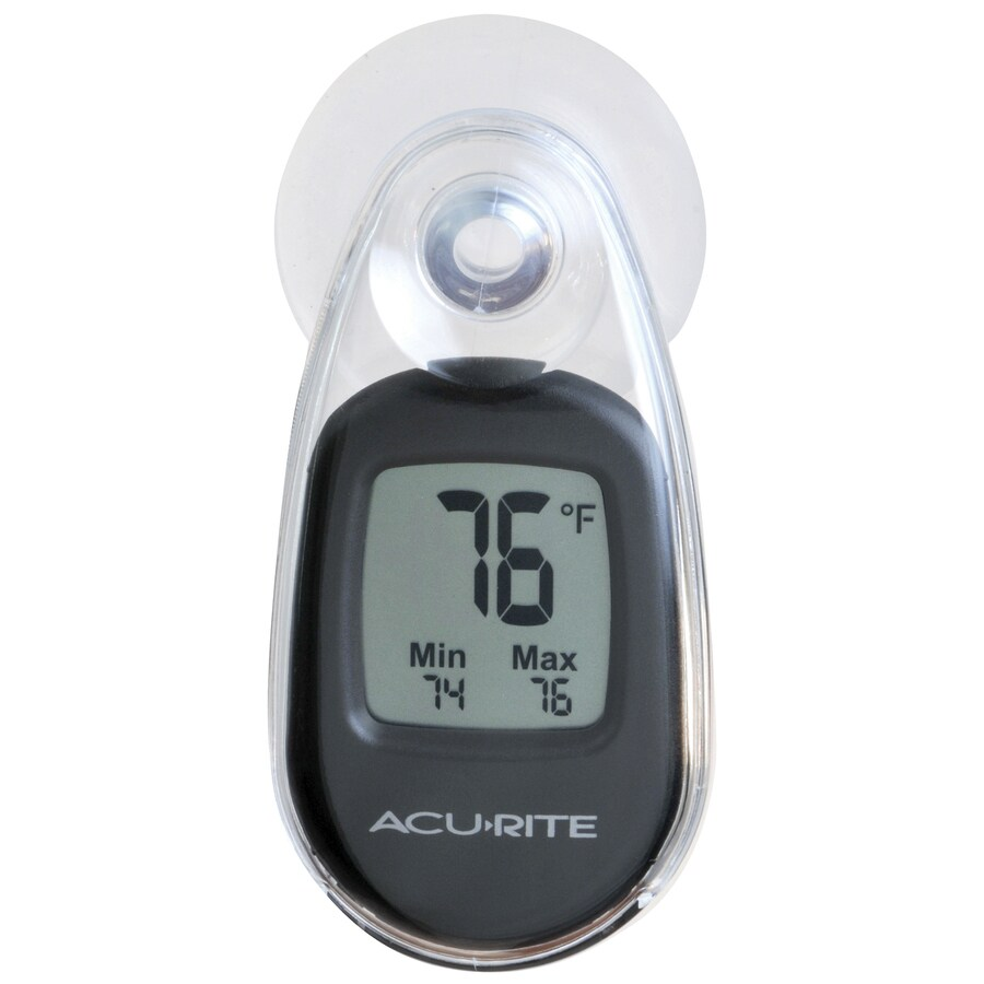 AcuRite Digital Wireless Indoor/Outdoor Black Thermometer