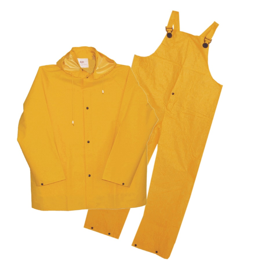Boss Large Yellow Plastic 3-Piece PVC Rain Suit