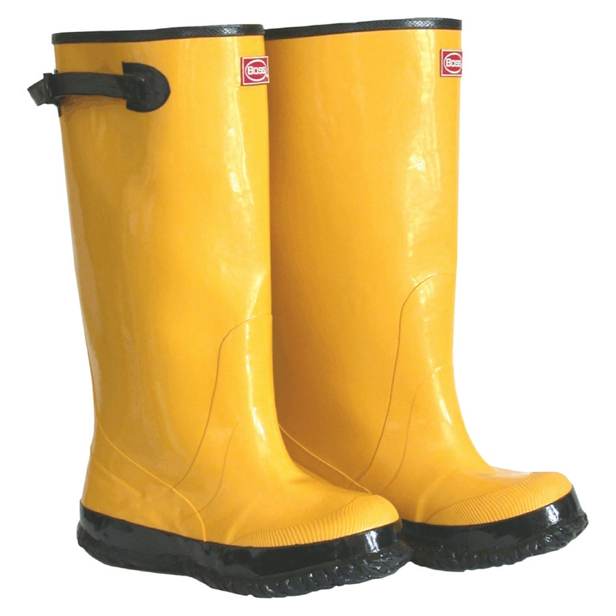 Boss Size-10 Men's Yellow Rubber Over the Shoe Boot