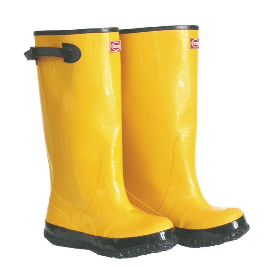 Boss Size-11 Men's Yellow Over the Shoe Rubber Boot