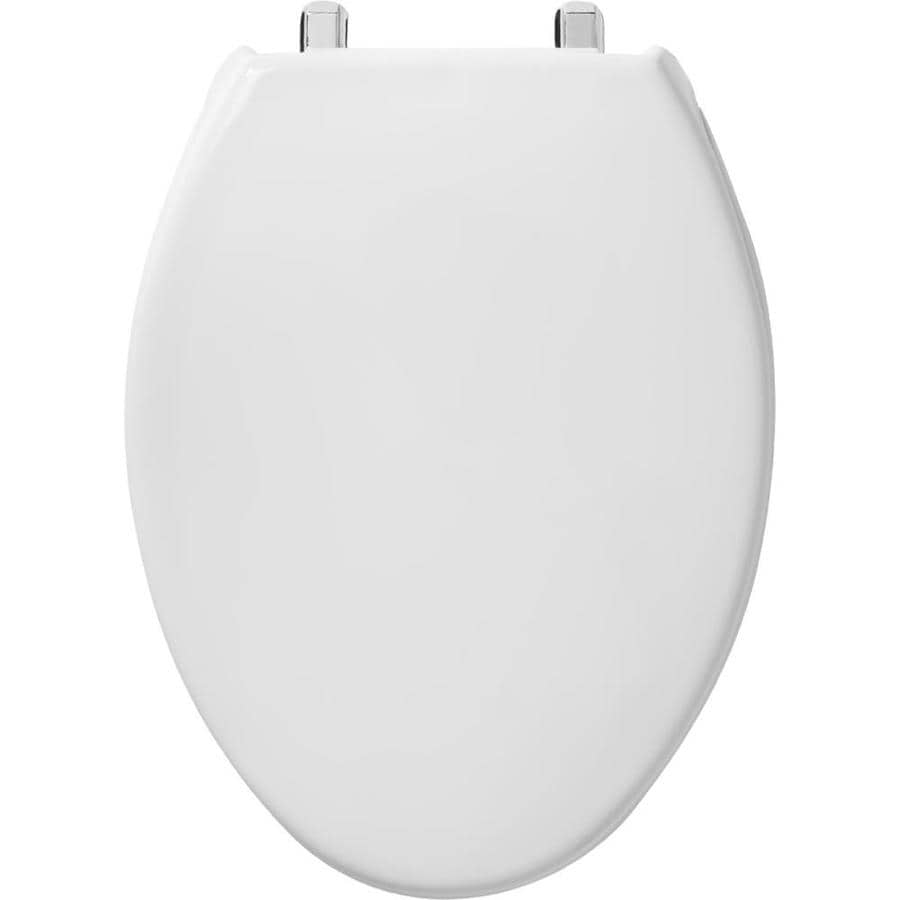 Church Commercial White Plastic Elongated Toilet Seat