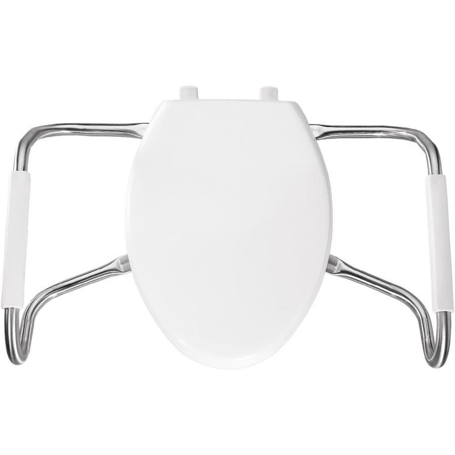 Shop Bemis Medical Assistance White Plastic Elongated Toilet Seat At