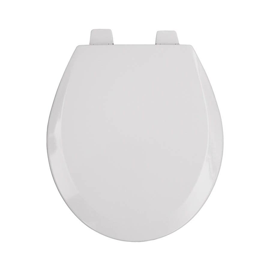 Bemis Pro Series White Wood Round Toilet Seat