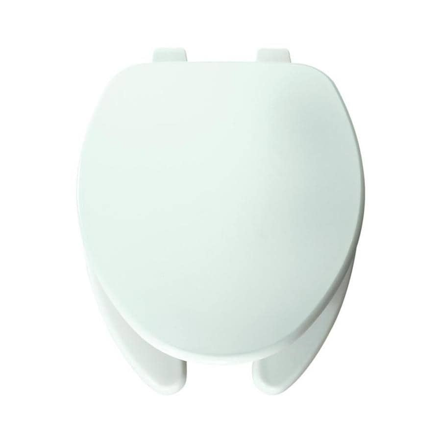 Shop Church Pro Series White Wood Elongated Toilet Seat At