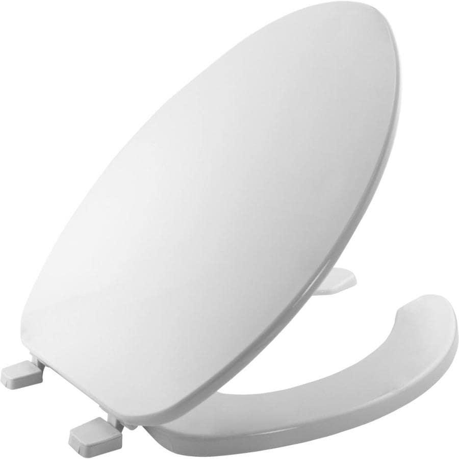 toilet seat covers lowes. Bemis Elongated Commercial Plastic Open Front Less Cover  Shop American Standard Slow Close Toilet
