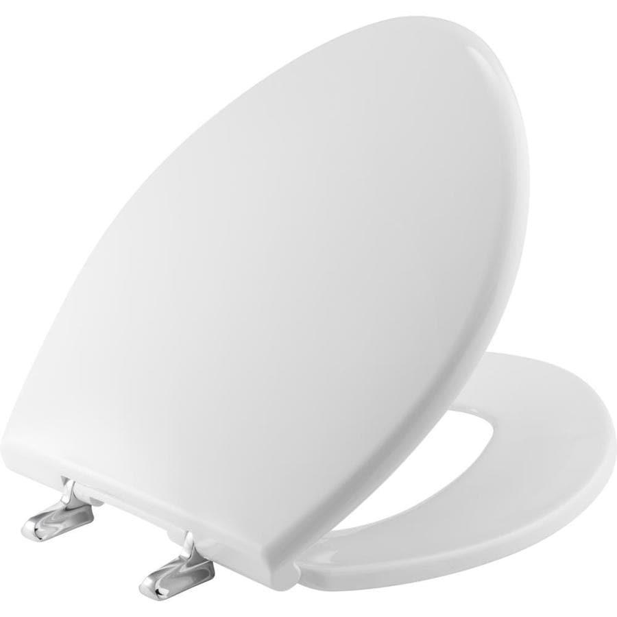 Bemis Paramont White Plastic Elongated Toilet Seat