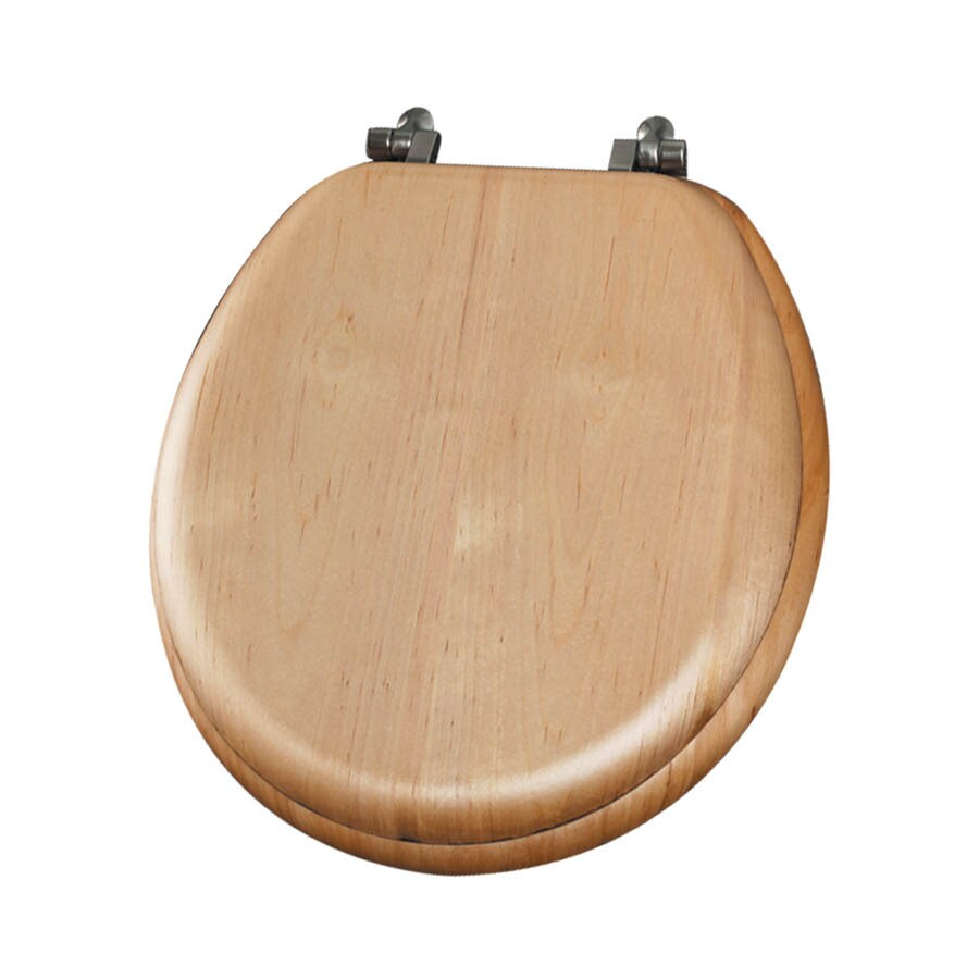 Mayfair Natural Reflections Maple Wood Round Toilet Seat
