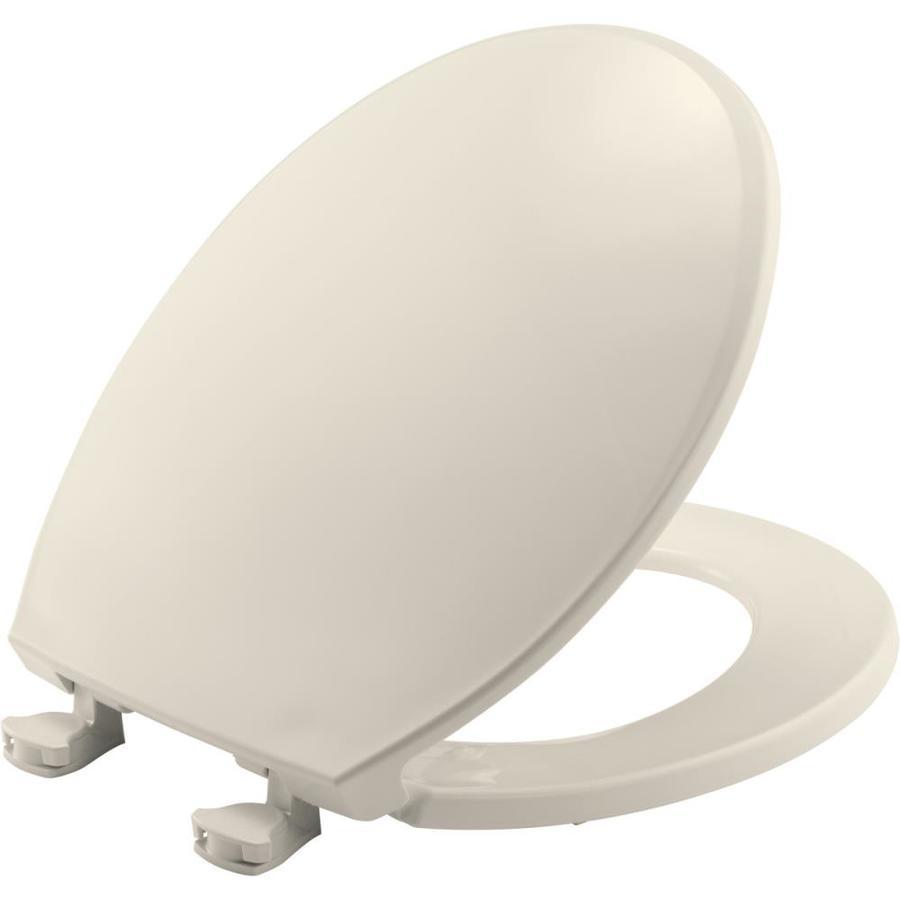 Bemis Lift-Off Biscuit Plastic Round Toilet Seat
