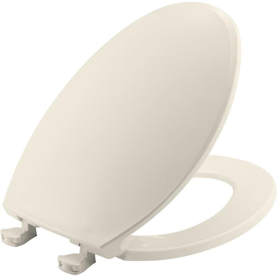 Bemis Lift-Off Biscuit Plastic Elongated Toilet Seat