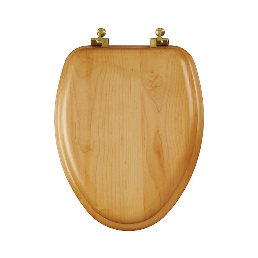 Mayfair Natural Reflections Natural Oak Wood Elongated Toilet Seat