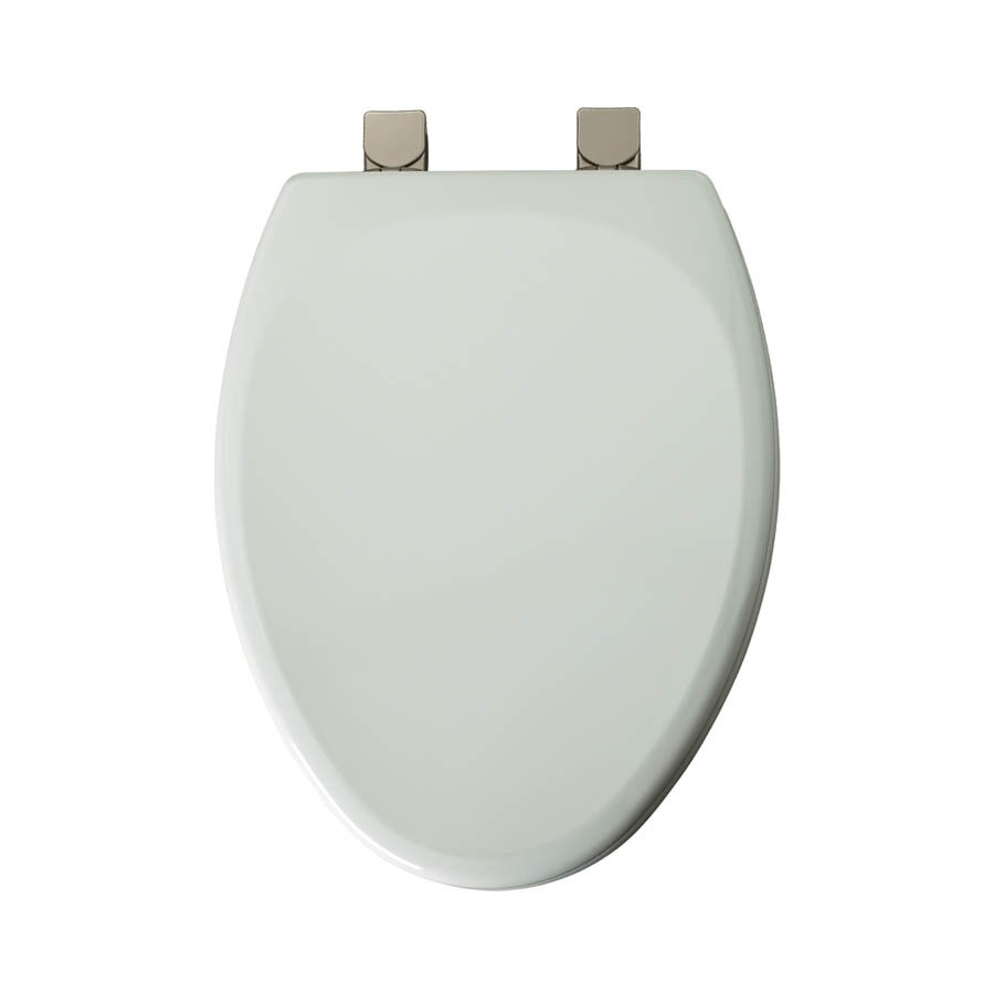 Mayfair White Wood Elongated Toilet Seat