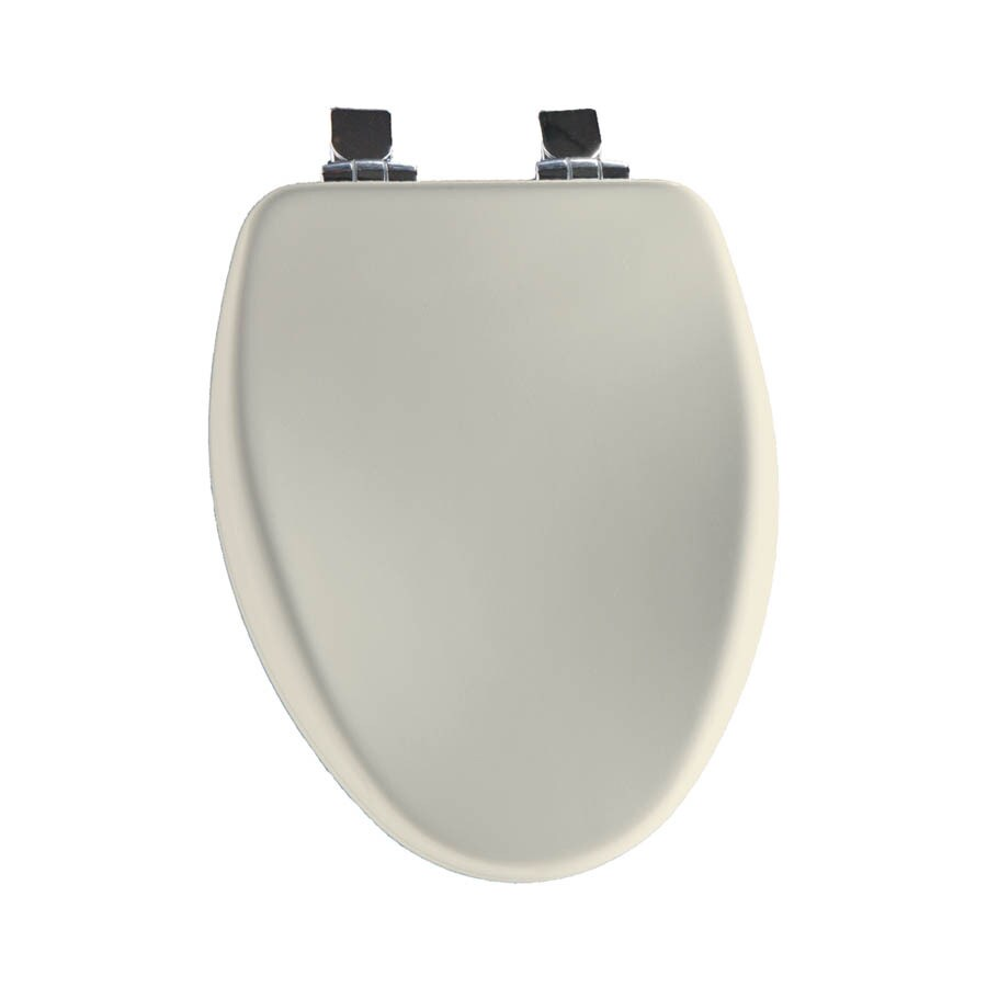Shop Church Biscuit Wood Elongated Slow Close Toilet Seat At