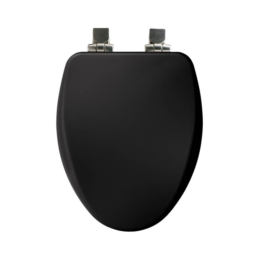 Church Black Wood Elongated Slow Close Toilet Seat