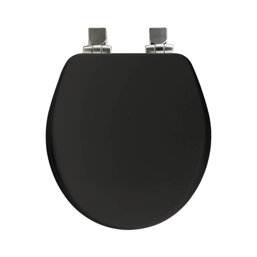 Shop Church Black Wood Round Slow Close Toilet Seat At