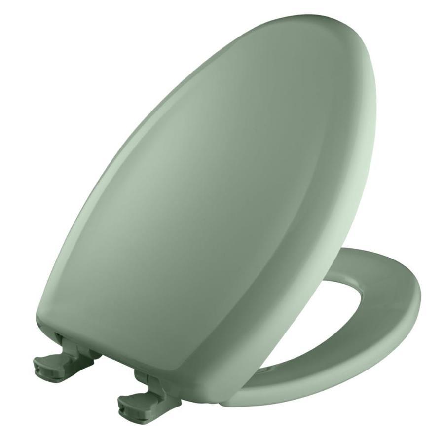 Bemis Lift-Off Sea Green Plastic Elongated Slow Close Toilet Seat