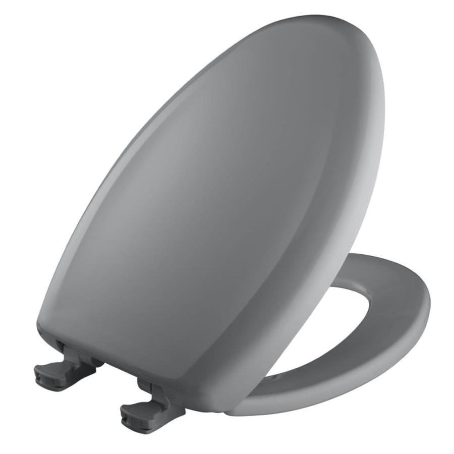 Bemis Lift-Off Country Grey Plastic Elongated Slow Close Toilet Seat