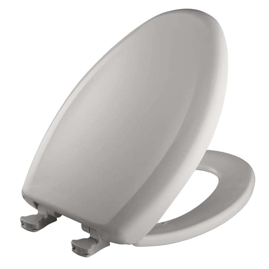 Bemis Lift-Off Silver Plastic Elongated Slow Close Toilet Seat