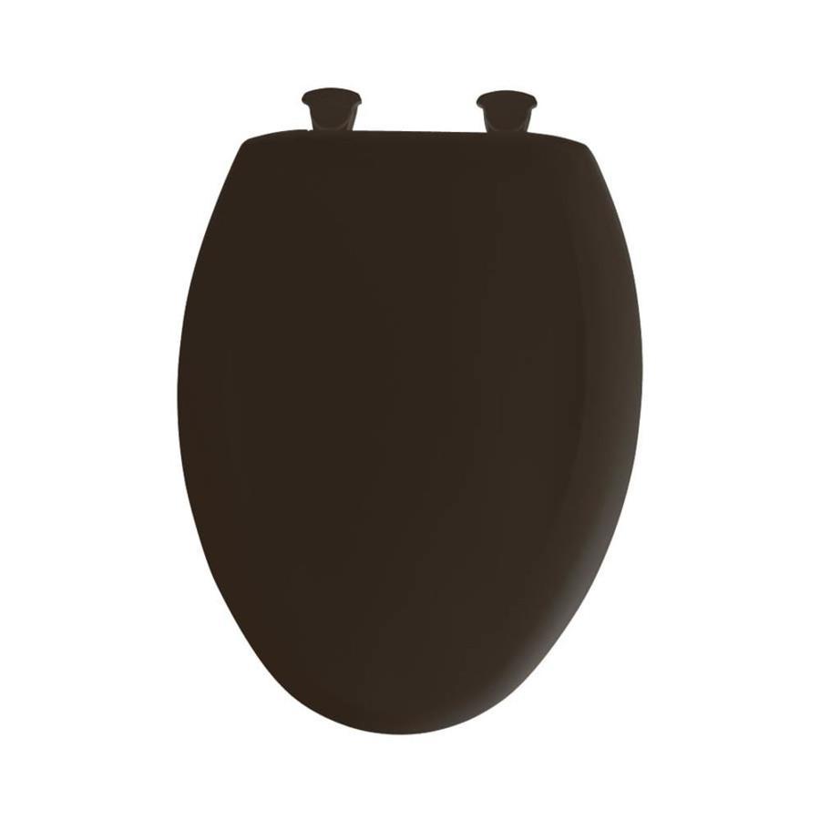 Bemis Lift-Off Americana Brown Plastic Elongated Slow Close Toilet Seat
