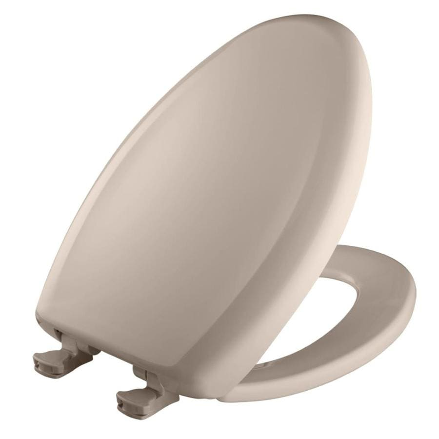 Bemis Lift-Off Innocent Blush/Zinfandel Plastic Elongated Slow Close Toilet Seat